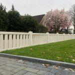 Tuinhek hugo wit geplaatst